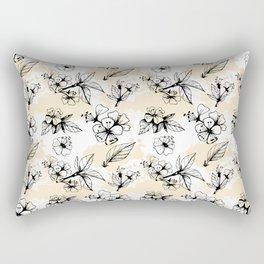 Cherry Flowers Rectangular Pillow