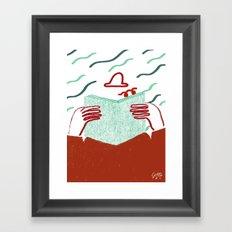 Watching You Secretly Framed Art Print