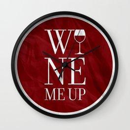 Wine Me Wall Clock