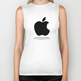 Steve Jobs (1955-2011): Innovation Distinguishes Between A Leader & A Follower Biker Tank