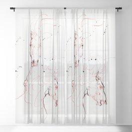 Wild horses Sheer Curtain