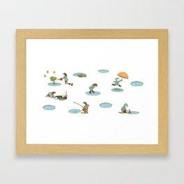 puddles Framed Art Print