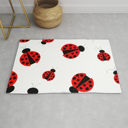 Ladybug nature  garden insect art  Coccinelle  jardin insecte Rug