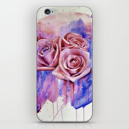A ROSE BY ANY OTHER NAME- RED & BLUE  iPhone Skin