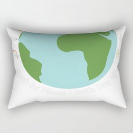 March for Science Earth Rectangular Pillow