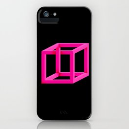 Impossible Cube in Pink iPhone Case