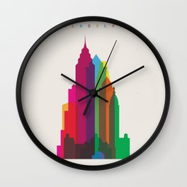 Shapes of Philadelphia accurate to scale Wall Clock