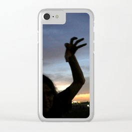 monster shadow twighlight Clear iPhone Case