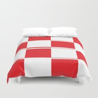 formula 1 Duvet Covers featuring FORMULA 1 by Michelito
