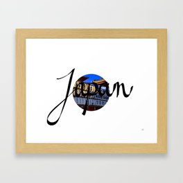 Japan Flag Framed Art Print