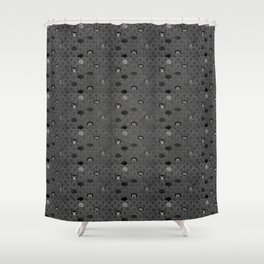 Rock Scales (Black and White) Shower Curtain