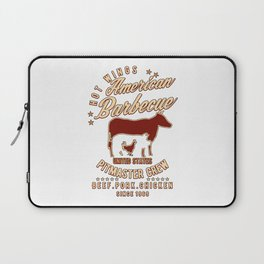 American Barbecue Pitmaster BBQ Laptop Sleeve