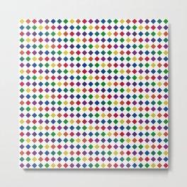 Colorful Seamless Rectangular Geometric Pattern Metal Print