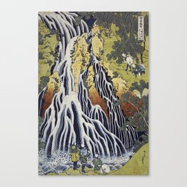 Hokusai Katsushika - Kirifuri waterfall at Kurokami mountain in Shimotsuke Canvas Print