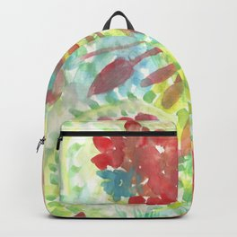 Ixora and Ferns - Watercolor Backpack