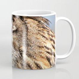 Eagle Owl Head Closeup Coffee Mug