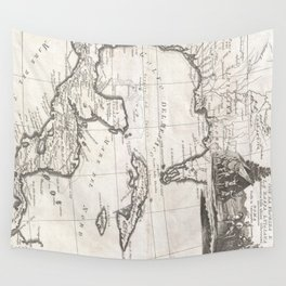 Vintage Map of The Gulf of Mexico (1798) Wall Tapestry