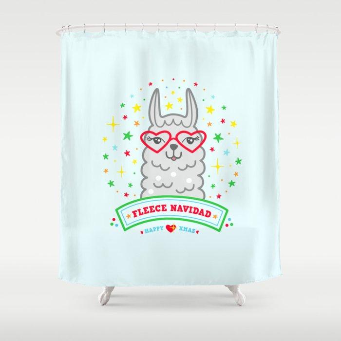llama gift ideas alpaca funny christmas quote gift idea Shower Curtain