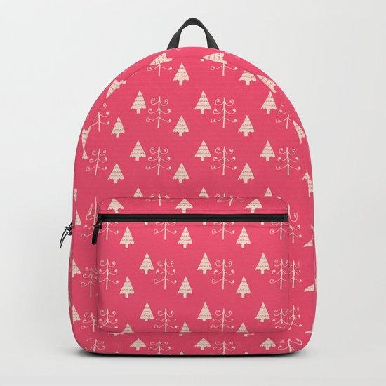 Christmas tree pink Backpack