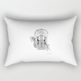 Cheyenne Warrior Rectangular Pillow