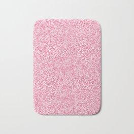 Spacey Melange - White and Dark Pink Bath Mat