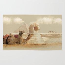 Egypt landscape with camels Rug