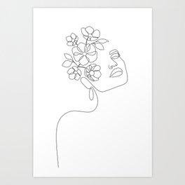 Dreamy Girl Bloom Art Print