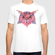 Owla owl Mens Fitted Tee White MEDIUM