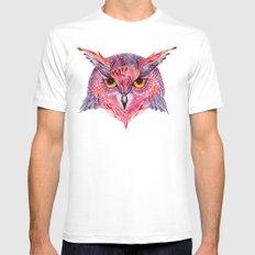 Owla owl Mens Fitted Tee MEDIUM White
