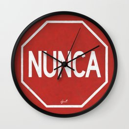NUNCA PARA Wall Clock
