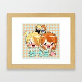 Sanji & Nami Framed Art Print