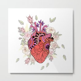Anatomy of the heart Metal Print