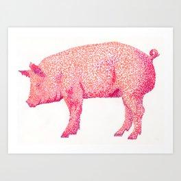 Hog & Kiss Art Print