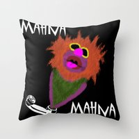 muppet Throw Pillows featuring Mahna Mahna....great Muppet! by Linda V.
