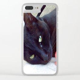 Luna the black queen Clear iPhone Case