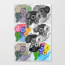 Colorful Teapots Remix Canvas Print
