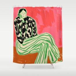 CALM WOMAN PORTRAIT Shower Curtain