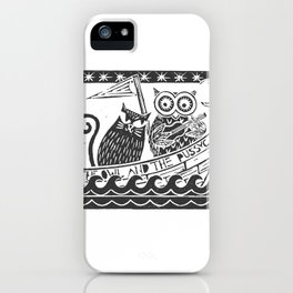The Owl And The Pussycat (white background) iPhone Case