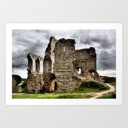 Corfe Castle, Dorset, UK Art Print