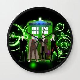 Tardis The Doctor Green Shine Gallifrey Wall Clock