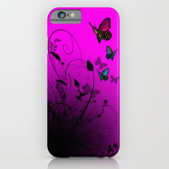 Summer Butterflies iPhone & iPod Case