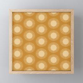 Golden Sun Pattern II Framed Mini Art Print