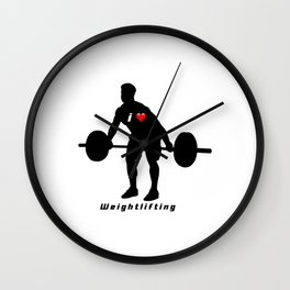 I love weightlifting Wall Clock