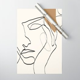 Abstract Face Wrapping Paper