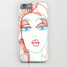 girl sketch Slim Case iPhone 6s