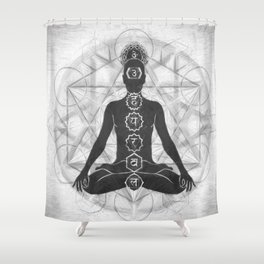 The Geometry of Life Shower Curtain