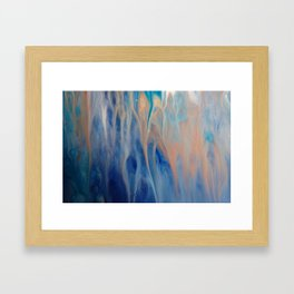 Sands of Time - Abstract Acrylic Art by Fluid Nature Framed Art Print
