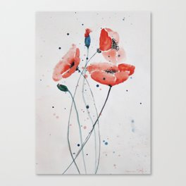 Poppies no 2 Canvas Print