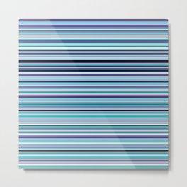 Old Skool Stripes - Sea Foam - Horizontal Metal Print