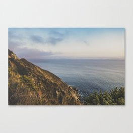 Ocean Side Sunset Canvas Print